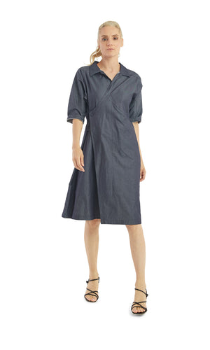 Chambray Wrap Shirt Dress