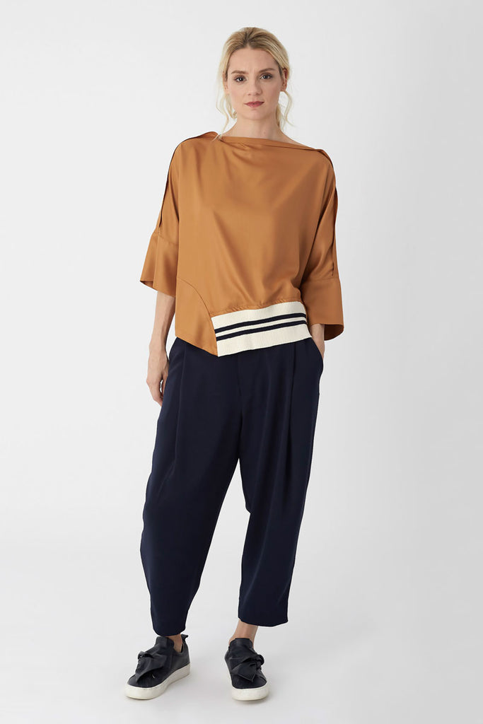 Tuck Trousers Navy