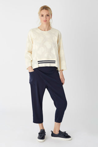 Deconstructed Top Cream Jacquard