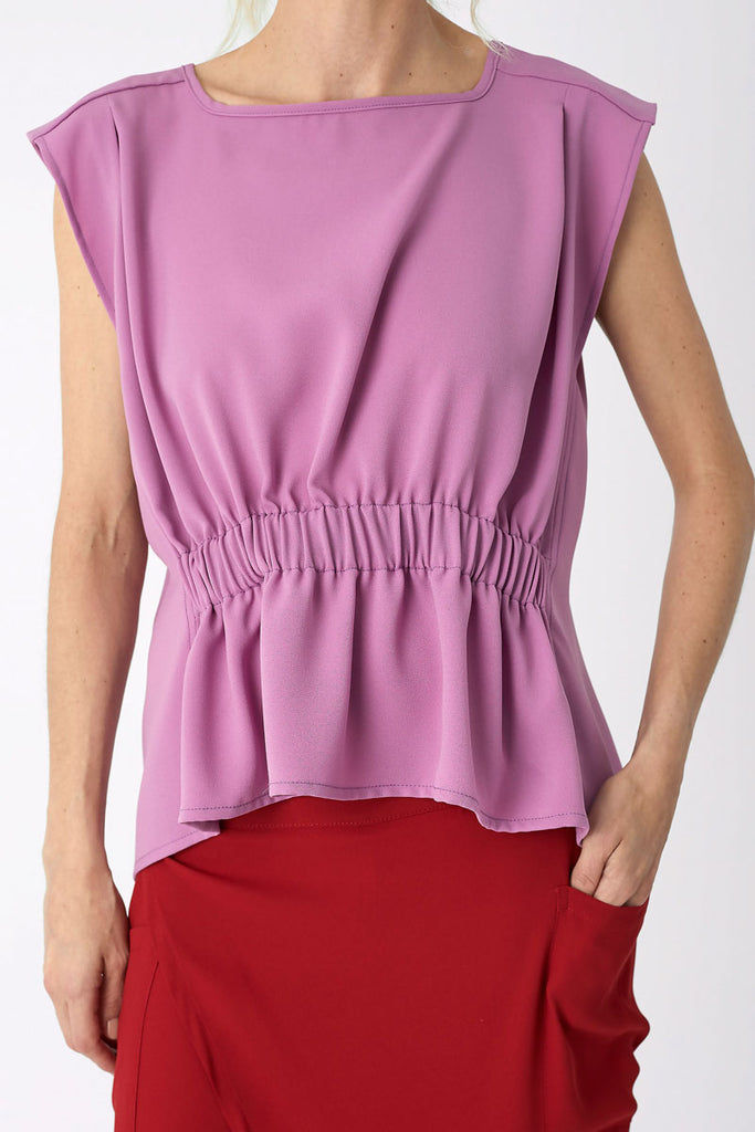 Cinched Top Dusty Pink