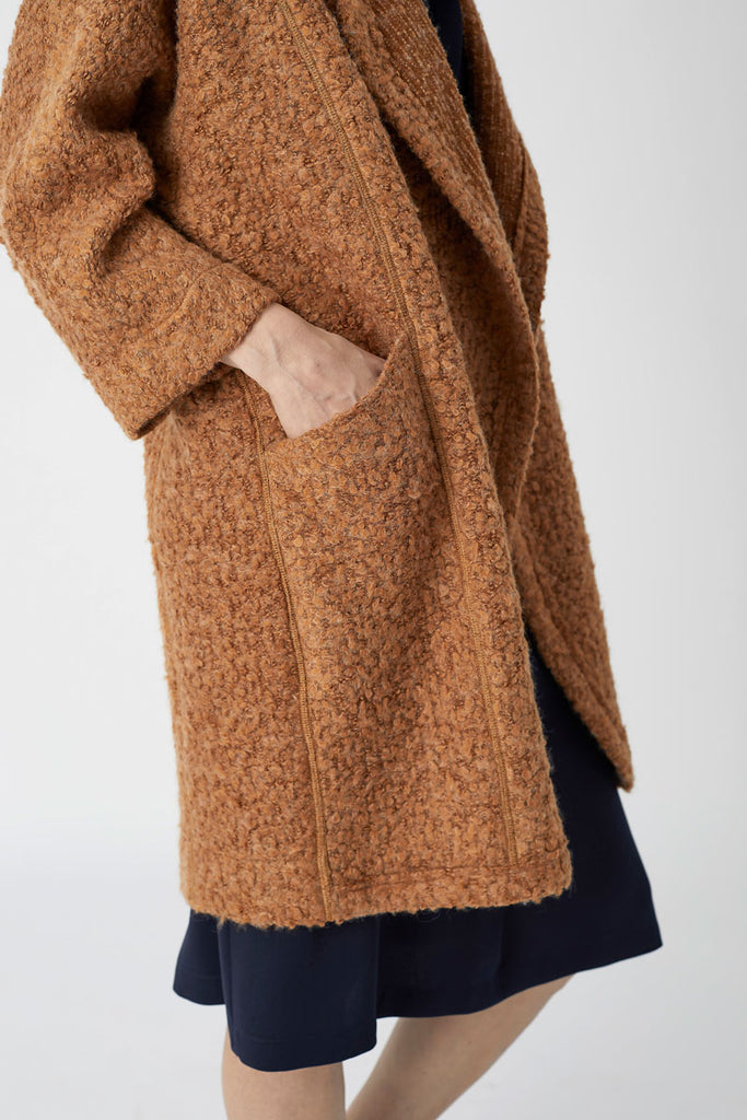 Sweater Coat Rust Knit