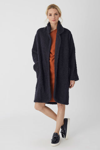 Sweater Coat Navy Knit