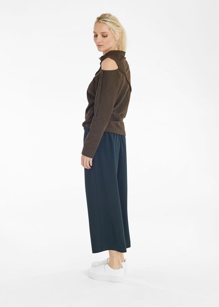 Hunter Green Fold Front Pants