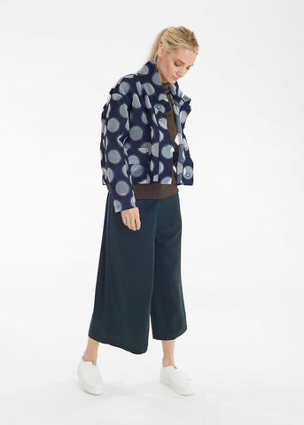 Denim Big Dot Bi-Level Short Jacket
