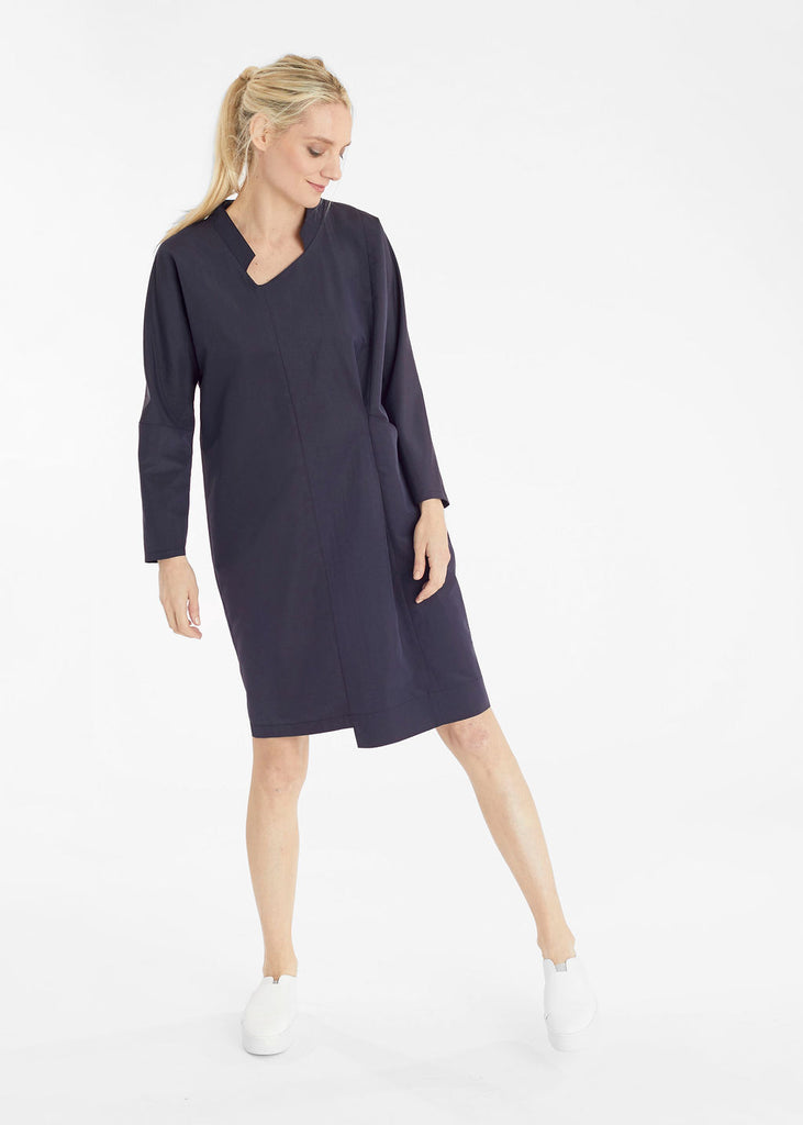 Indigo Tuck Pocket Dress