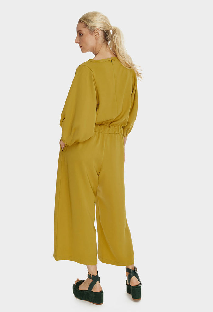 Wide Leg Jumpsuit Mustard