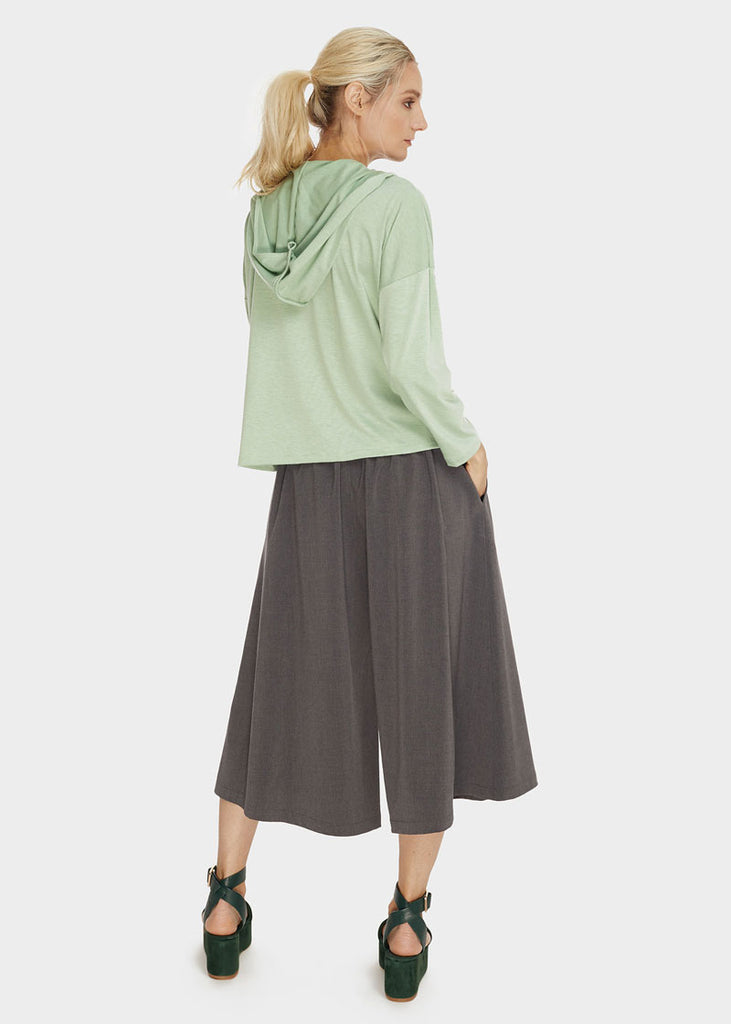 Wide Pant-Skirt Charcoal Melange