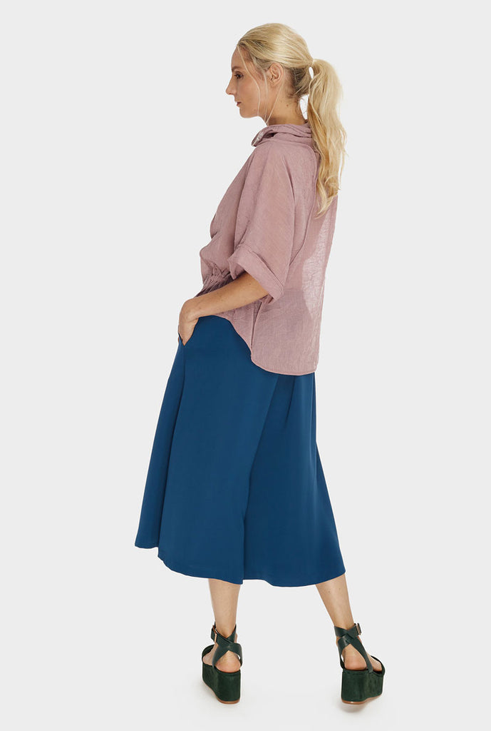 Wide Pant-Skirt Teal Blue