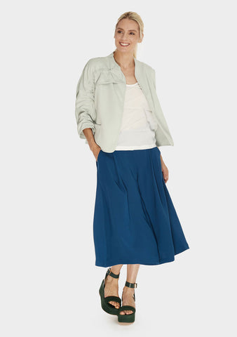 Gathered Shoulder Jacket Mist