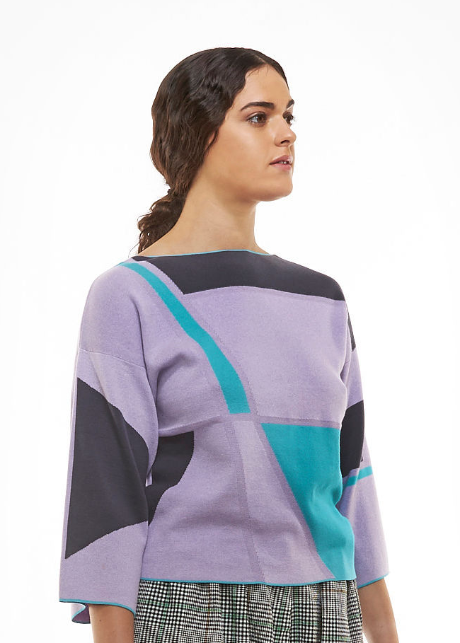 Load image into Gallery viewer, Lilac Coal Graphic Kimono Top