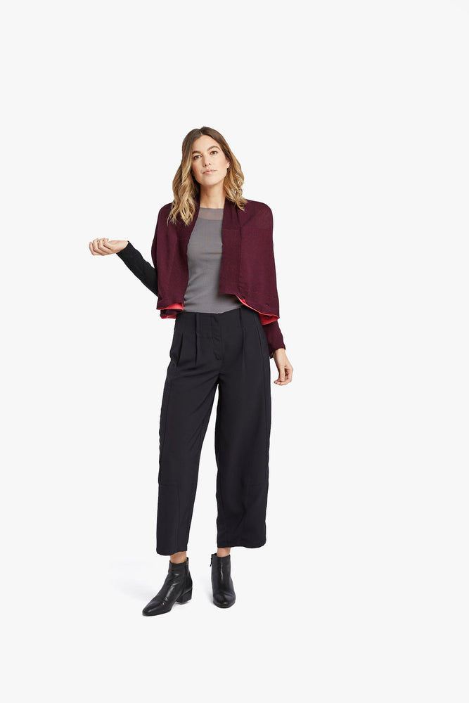 Load image into Gallery viewer, Maroon / Pink 4 in 1 cardigan
