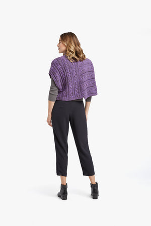 Load image into Gallery viewer, Purple Olive Melange Smocking Stitch Pullover