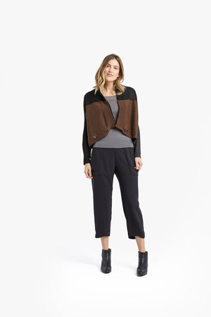 Load image into Gallery viewer, Black / Coffee 4 in 1 cardigan