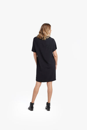 Dark Navy Yoke Dress