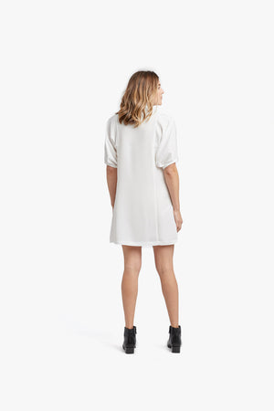 White Micro Placket Dress