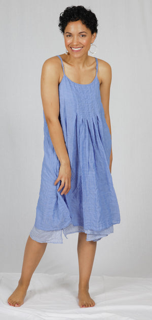 "The ""Linda"" Reversible Dress in Blue"