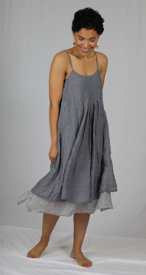 "The ""Linda"" Reversible Dress in Grey"