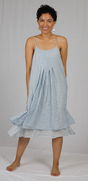 "The ""Linda"" Reversible Dress in Ice/Light Blue"