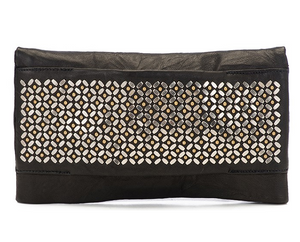 Fava Clutch in Black Borello