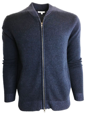 Double Layer Baseball Sweater Navy