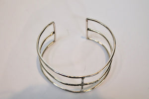 "Studio Suzan Sterling Silver ""Skeleton"" Cuff"