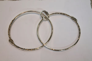 Studio Suzan Sterling Silver Double Bangle