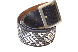 "Calleen Cordero Diego 1.5"" Belt in Black Crock"