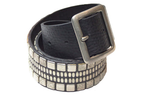 "Calleen Cordero Serape 1.75"" Belt in Black"