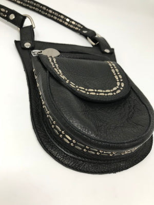 Carolina G Handbag - Black-Anilin