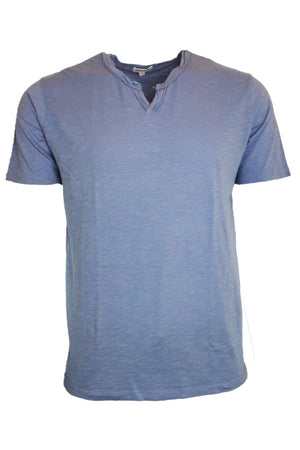 Short Sleeve Notched Tee Slim Fit