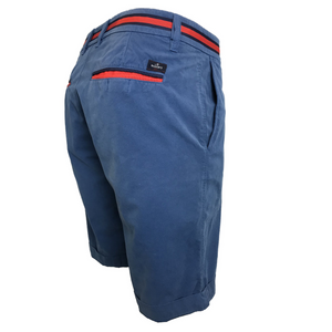 Mason's Chino Short London Summer in Royal Blue