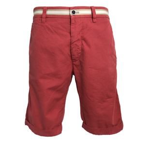 Mason's Chino Short London Summer in Crimson