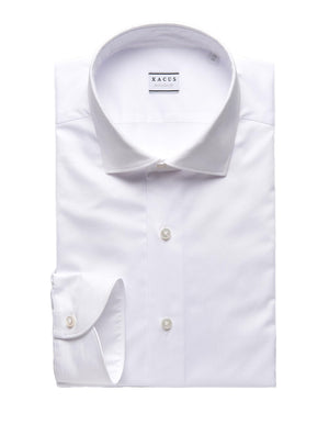 XACUS - Evolution Fit Stretch Fabric - White Long Sleeve Shirt