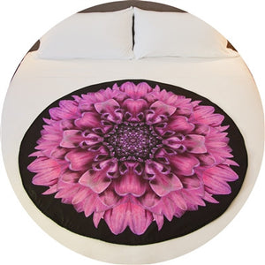 Amethyst Magic Deluxe Venus Mat, a lavendar exotic flower graces this sex mat/period mat. Naturally antimicrobial, absorbent and waterproof.