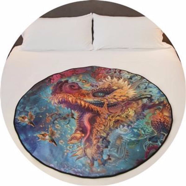 Humming Dragon Limited Edition Deluxe Venus Mat - Android Jones image graces our deluxe naturally anti-microbial, waterproof & washable period / squirter bed mat.