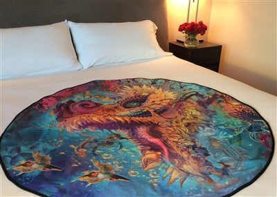 The most luxurious mattress protector, The Humming Dragon Deluxe Venus Mat is a detail from Android Jones' painting. Sublimate printed (so it will not fade) this stunning image will dress up any bedroom!