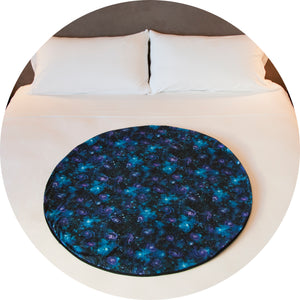Release your inner goddess with the help of with this galaxy centric bed mat.