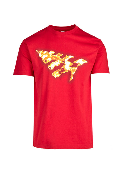 PAPER PLANES: ON FIRE TEE [RED] - apb-store