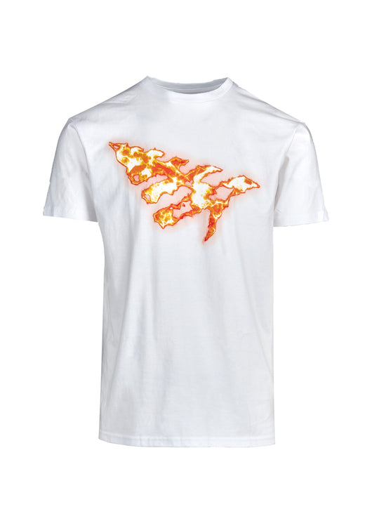 PAPER PLANES: ON FIRE TEE [WHITE] - apb-store