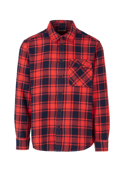 NUDIE JEANS CO.: STEN FLANNEL SHIRT [RED] - apb-store