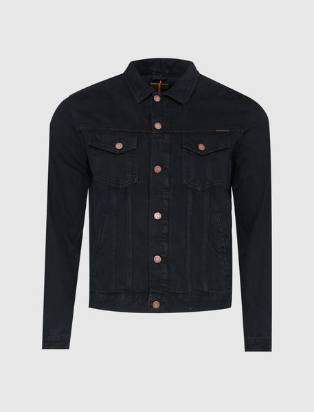 NUDIE JEANS CO: BOBBY VOID DENIM JACKET [BLACK]