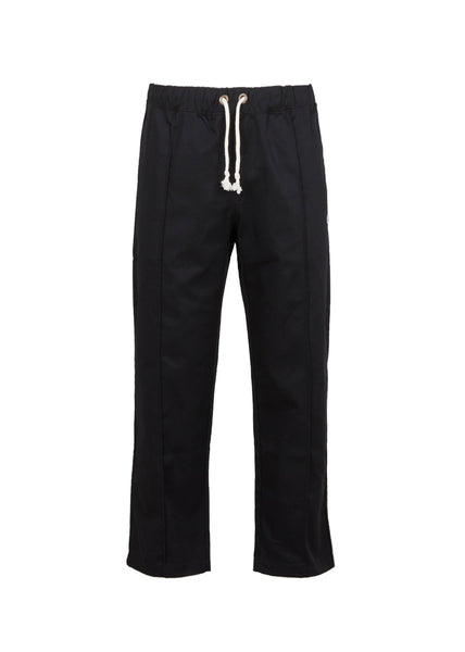 CHAMPION: REVERSE WEAVE DRAWSTRING HEM PANTS [BLACK]