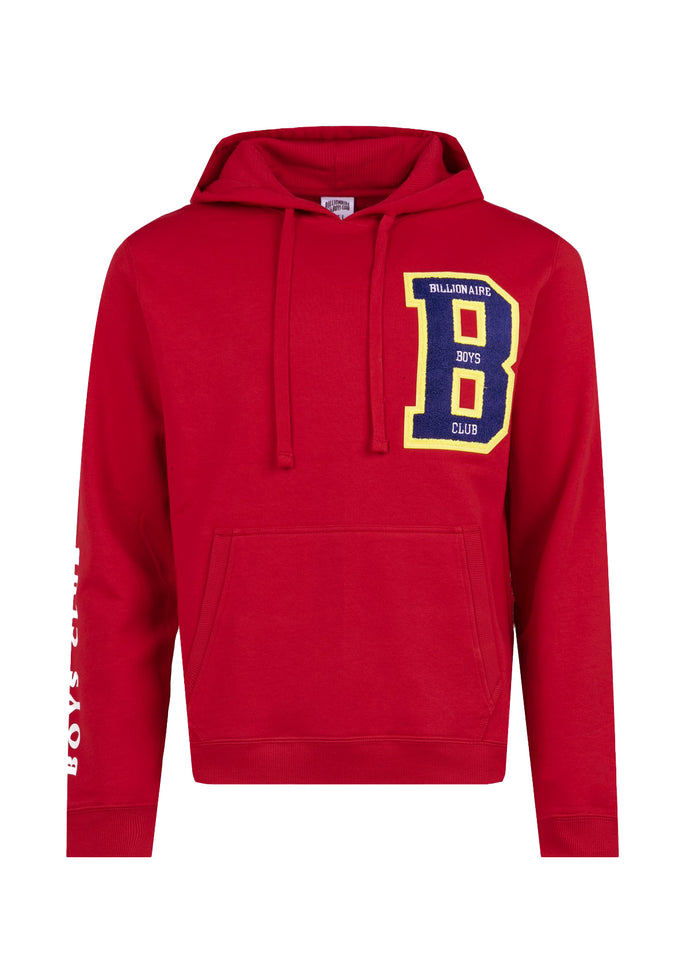 BILLIONAIRE BOYS CLUB: LETTERS HOODIE [RED]