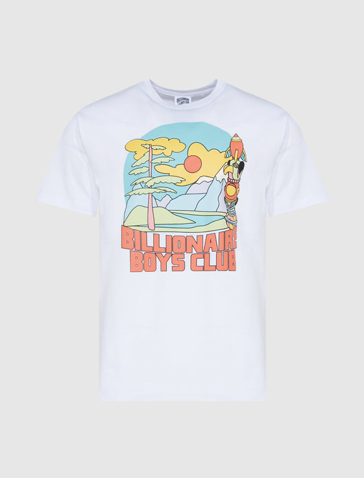 BILLIONAIRE BOYS CLUB: GREAT SCENE SS TEE [WHITE]