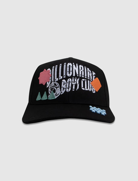 BILLIONAIRE BOYS CLUB: ARCH SNAPBACK HAT [BLACK]