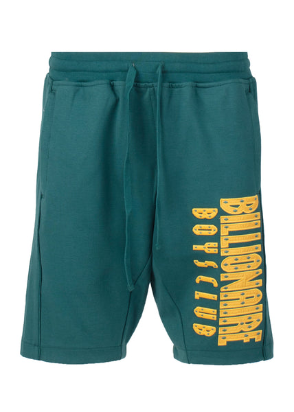 BILLIONAIRE BOYS CLUB: STRAIGHT FONT SHORTS [GREEN] - apb-store