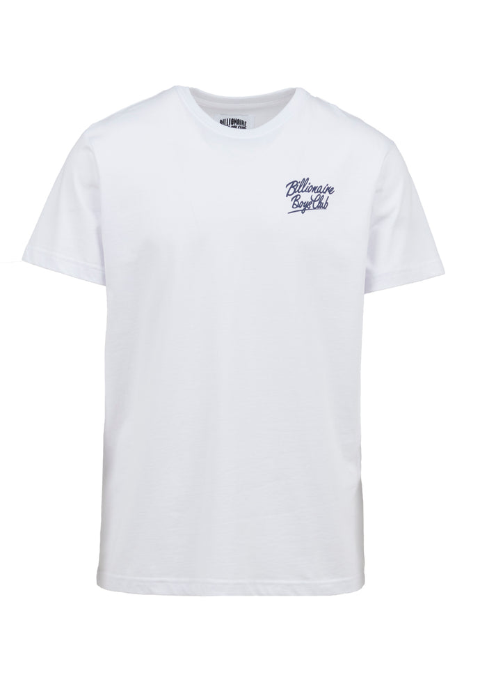 BILLIONAIRE BOYS CLUB: SCRIPT SS TEE [WHITE]