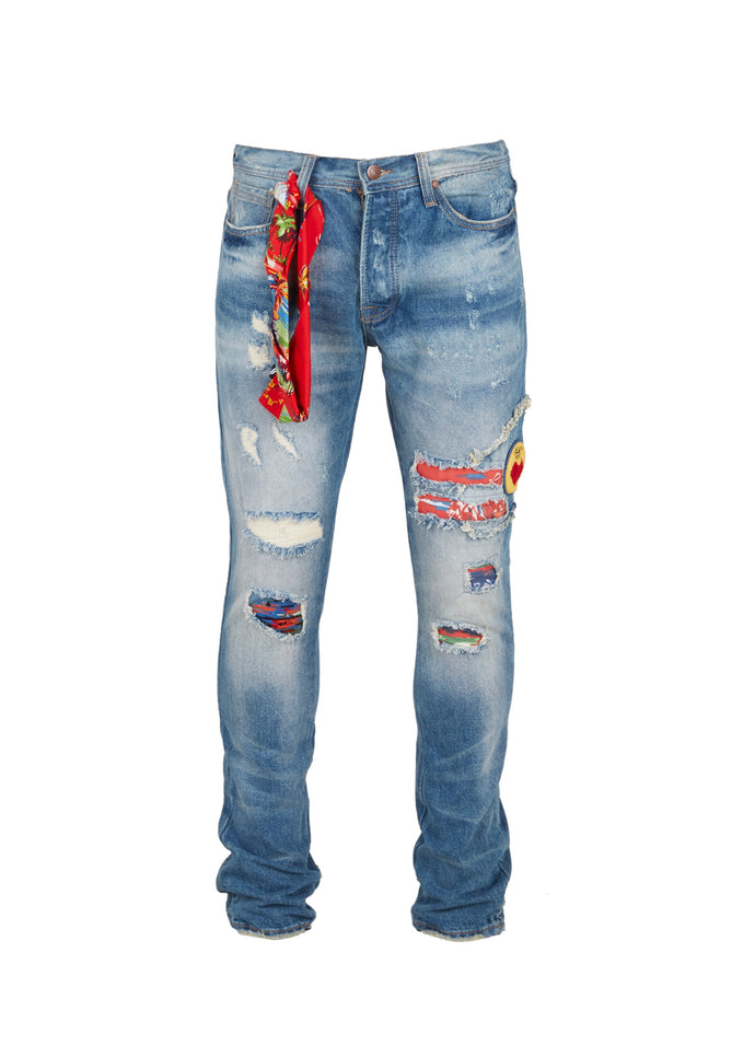BILLIONAIRE BOYS CLUB: ROCKET JEANS [INDIGO]