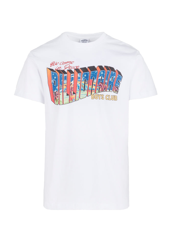 BILLIONAIRE BOYS CLUB: GREETINGS SS TEE [WHITE]