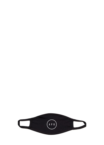 APB: COTTON FACE MASK [BLACK]
